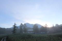 日の出と燧ヶ岳@見晴地区