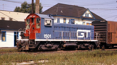 GTW #1501 at Elsdon Yard (Chicago IL) in 1975. by rrradioman