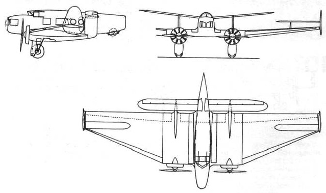 Kalinin K-12 passenger version 1