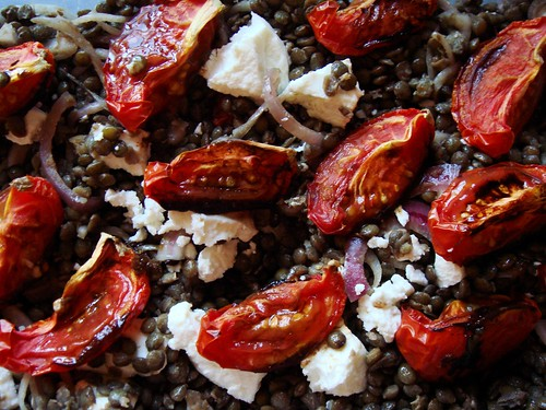 French Lentils with Roasted Tomato & Goat Cheese