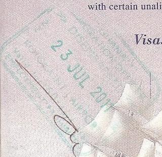 Ghana Entry Stamp