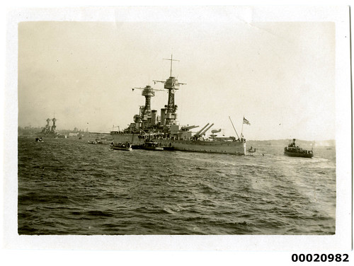 USS COLORADO (III) in Sydney Harbour, July 1925