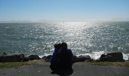 couple at Berkeley Marina