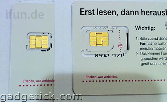 iPhone 5 nano-SIM cards
