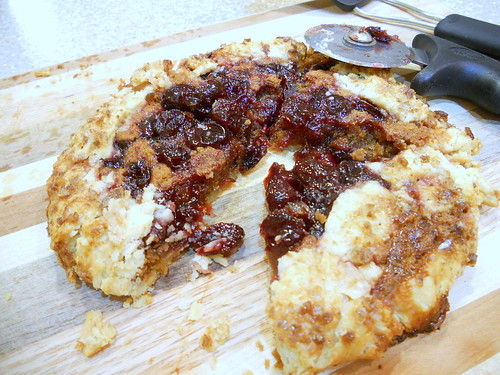 Sour Cherry Biscoff Crostatas