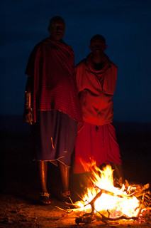 Maasai by the fire