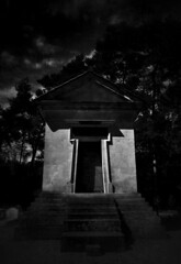 Moonlit Mausoleum, Highgate Cemetery, London