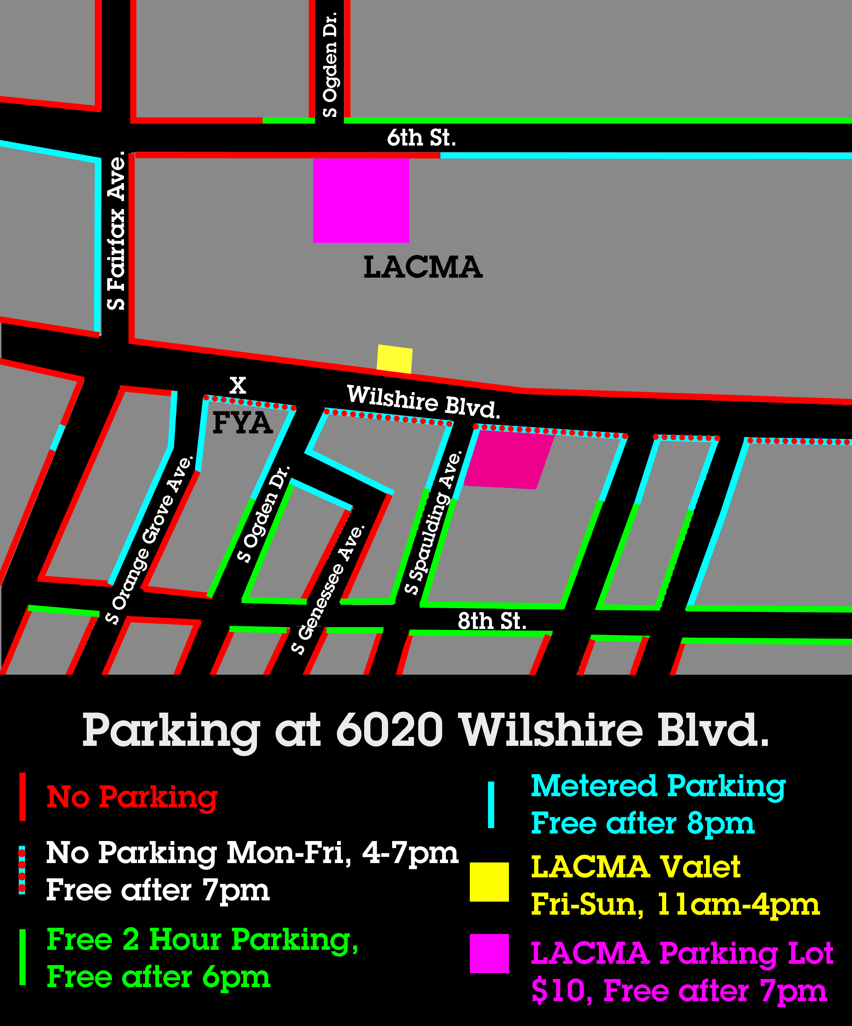 ForYourArt at 6020 Wilshire Blvd. Parking Map