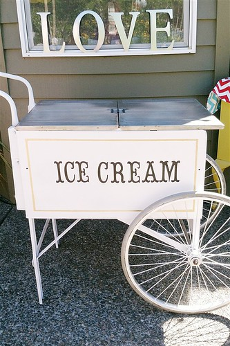Wedding Carnival Ice Cream Cart