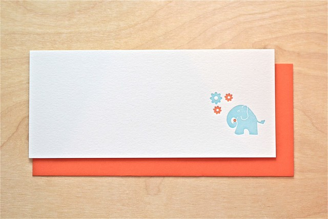 Letterpress Elephant Stationery