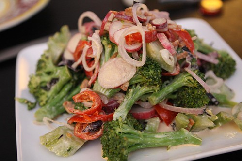 Crunchy Broccoli Salad with Bacon, Shallots, Peppadew, and Radish
