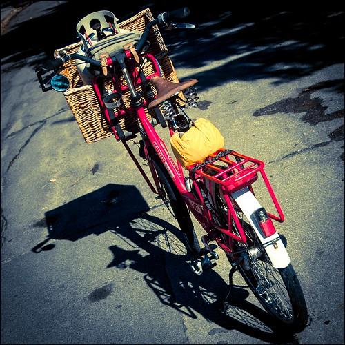 Bike with propane tank