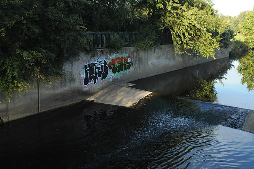 Graffiti by the weir