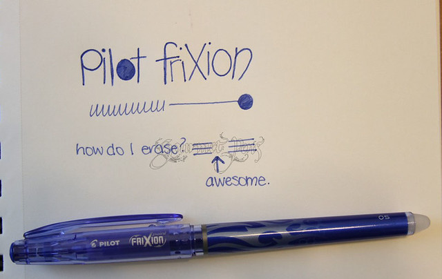 Pilot FriXion Erasable Pen