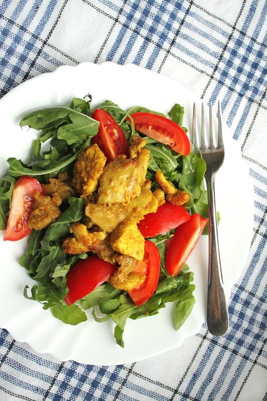 02 Warm curried chicken salad