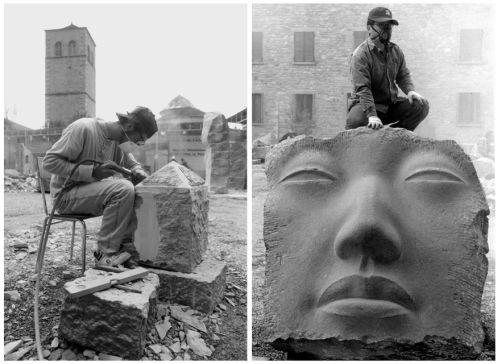 Altre pietre scolpite al Simposio - ph Roberto Leoni