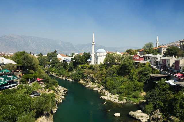 View from Mostar Bridge - Bosnia and Herzegovina