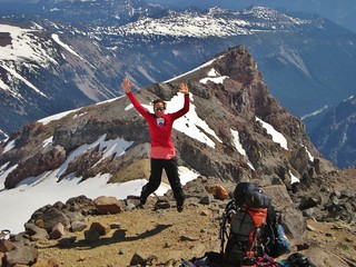 Jumping for Joy on Mt Rainier