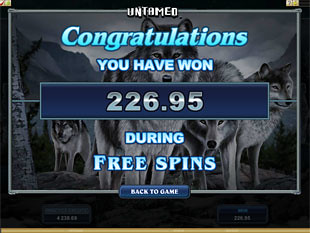 Untamed Wolf Pack Free Spins