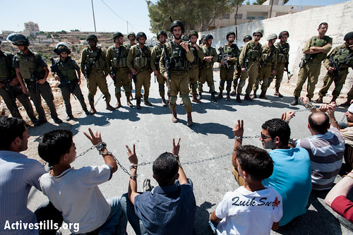 Anti-wall and prisoner solidarity protest, Al Mas'ara, West Bank, 14.9.2012