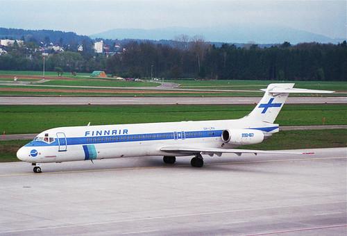 Finnair MD-87; OH-LMA@ZRH;31.03.1997