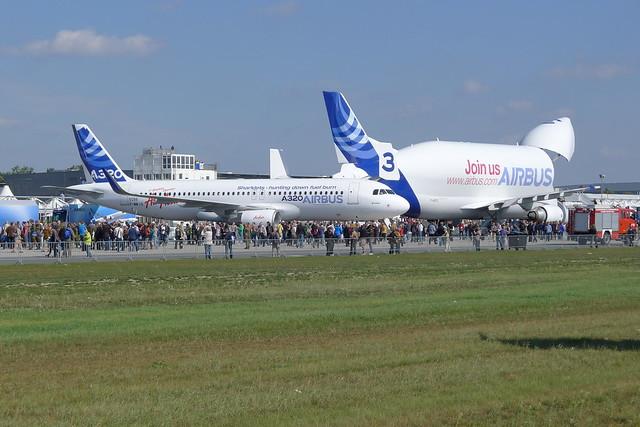 Airbus 320 vor Beluga