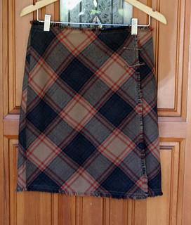 cozy plaid wrap skirt (for swap)