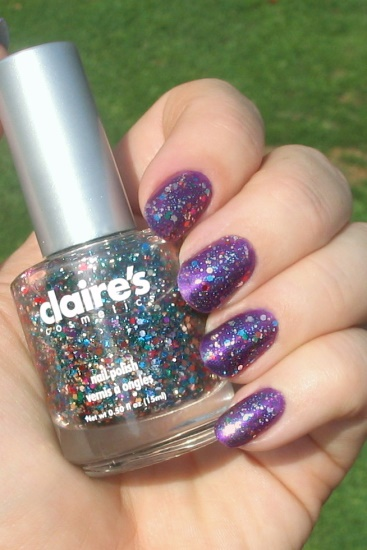 Purple with Bedazzled glitter