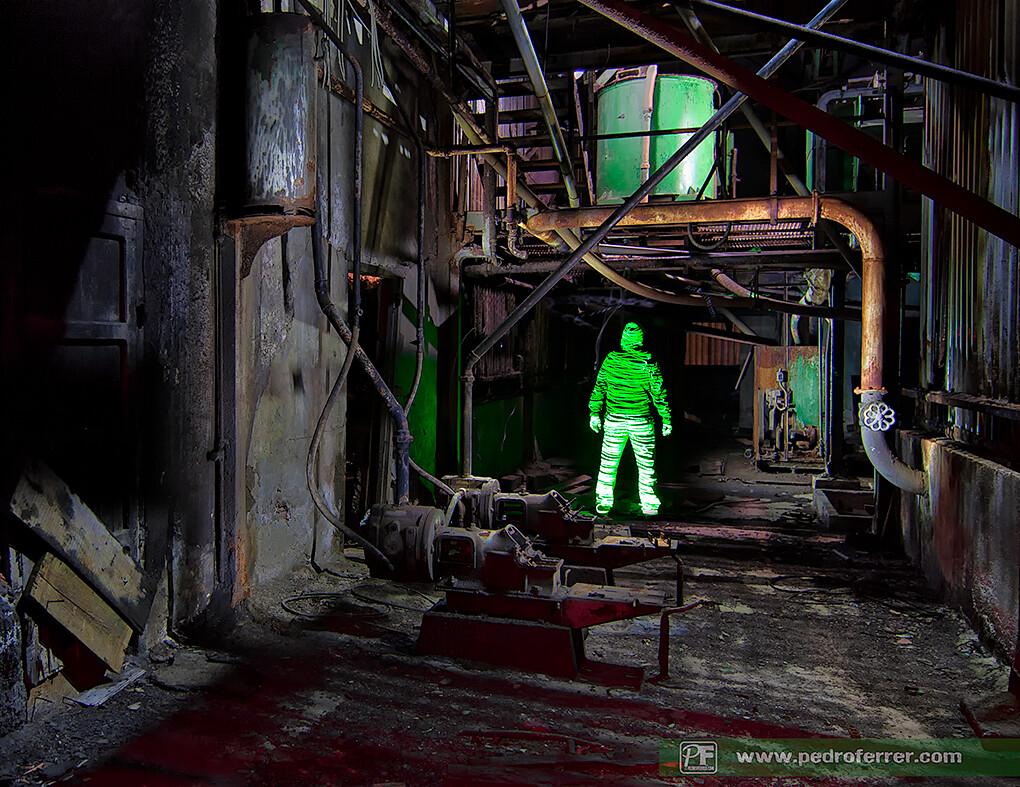 Hombrecillos verdes - Laserpainting