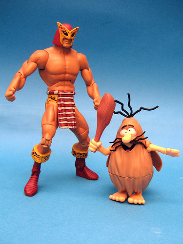 Captain Caveman with B'wana Beast for scale