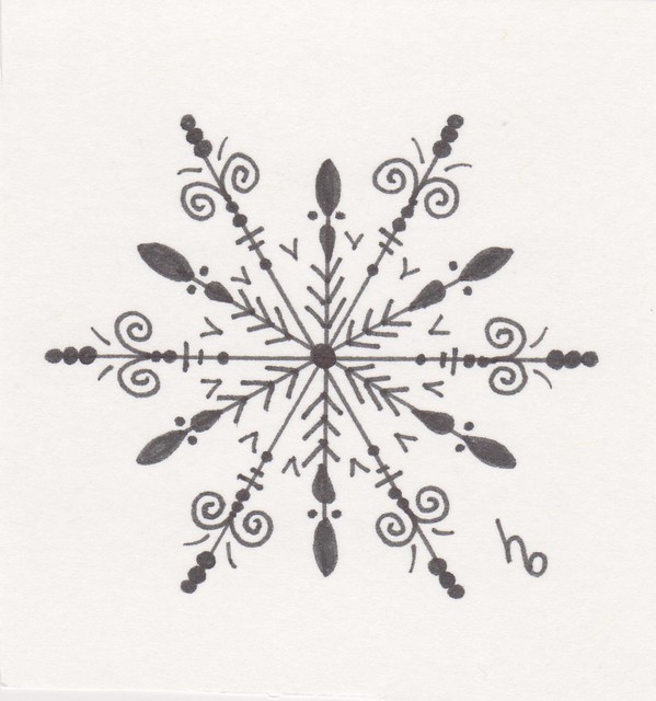 Snowflake Sketch 3 | Flickr - Photo Sharing!