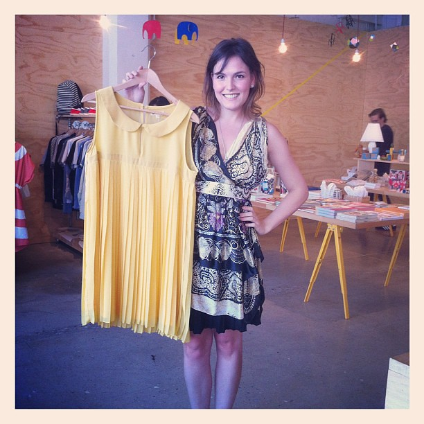 Traveling all the way from brazil, @biaperotti picked up this cute dress at #poketo store!