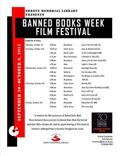 Banned Books Week Film Fest, Shreve Memorial Library branches by trudeau