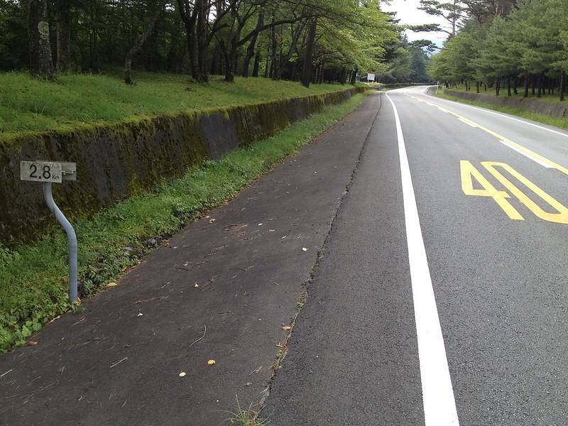 富士あざみライン 2.8km地点