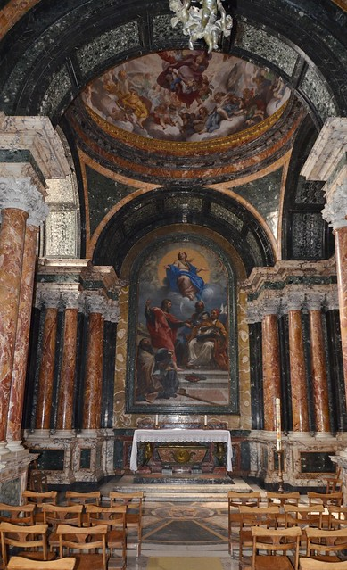 Santa Maria del Popolo, view of interior towards altar (1)