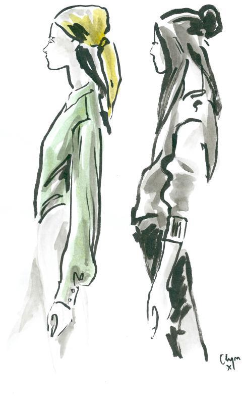 Clym Evernden Nicole Farhi SS13 backstage illustrations