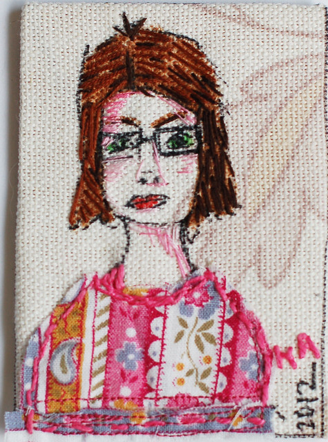 Self portrait ATC