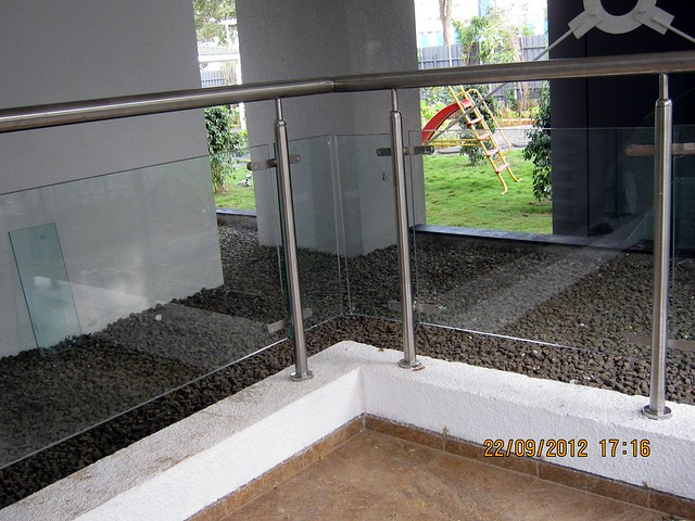 S S Railings with Toughened Glass at Pebbles II by Abhinav Group & Rainbow Housing, 2 BHK & 3 BHK Flats, behind DSK Toyota Showroom, at Bavdhan Budruk, Pune 411021, Launched!