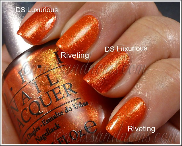 OPI Luxurious vs China Glaze Riveting