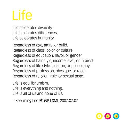 Life (Manifesto) / 2007.07.07-2012.09.25 / SML