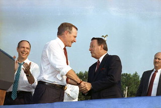 George H.W. Bush with Bobby Bowden: Tallahassee, Florida