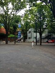 朝散歩 - 振り返る (2012/9/27)