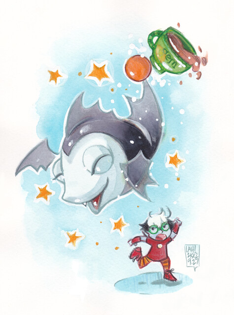 Fishbat and Pandora Print