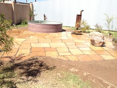 Outdoor Tub Area Now with More Flagstone by mikeysklar