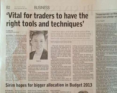 Robin on The Borneo Post, 28 September 2012