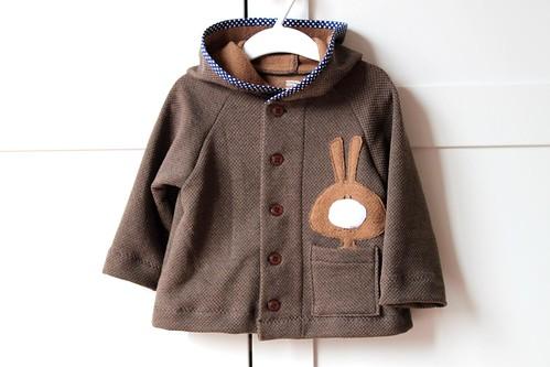 Bunny jacket. Chocolate bite.