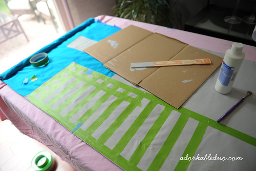 diy hand painted window panels with ninja and cityscape for nursery decor