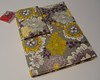 Gray Lavender Yellow Fabric Portfolio