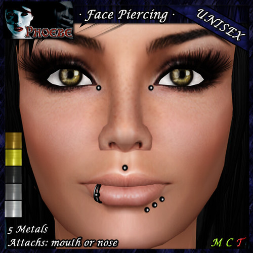 *P* Unisex Face Piercing ~ Serie K7 ~ 5 Metals