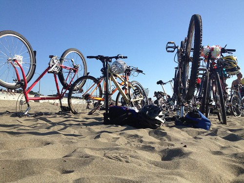 bikes in the sand